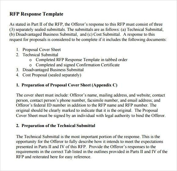 Cover letter for rfp response rfp response template vnzgames pronofoot35fo Gallery