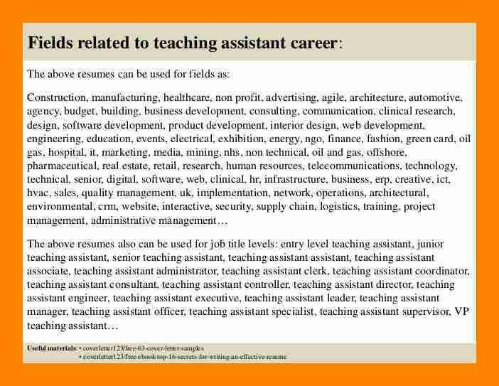 7+ teacher assistant cover letters | doctors signature