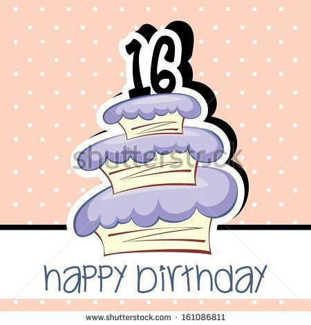 Happy Birthday Cake Card Vector Pink Stock Vector 159993542 ...