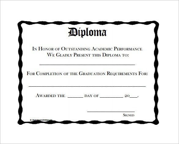 8+ Diploma Certificate Templates - Free Word, PDF Documents ...