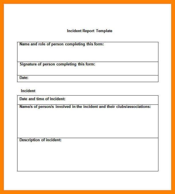 9+ format of incident report letter | day care receipts