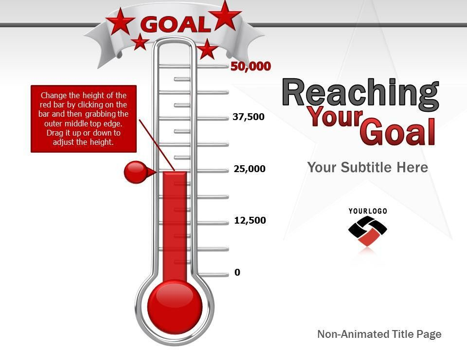 Reaching Your Goal - A PowerPoint Template from PresenterMedia.com