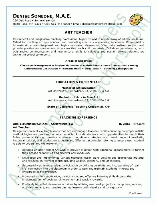 Teaching Artist Resume - Best Resume Collection