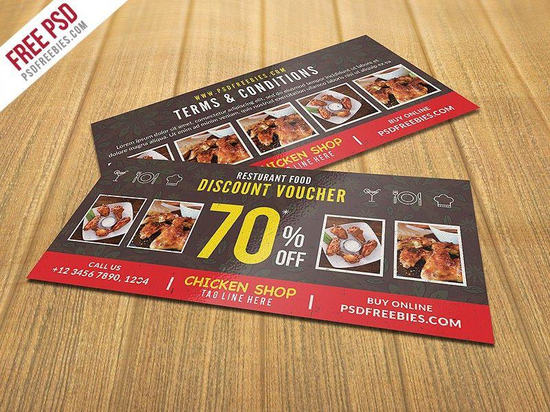 Restaurant Food Discount Voucher Free PSD Download - Download PSD