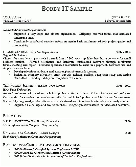 Samples Of College Resumes | Experience Resumes