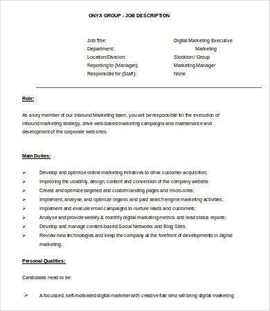 Digital Marketing Resume - 7+ Free Word, PDF Documents Downlaod ...