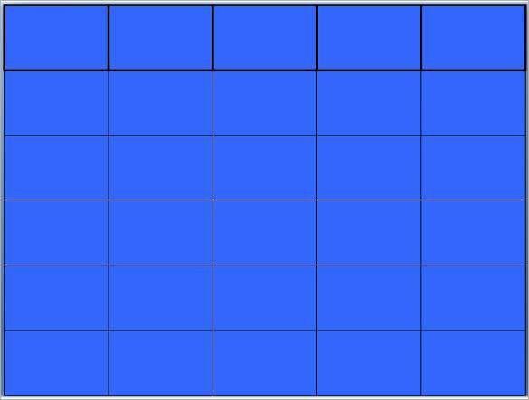 Blank Jeopardy Template - Blank Templates | Free & Premium Templates