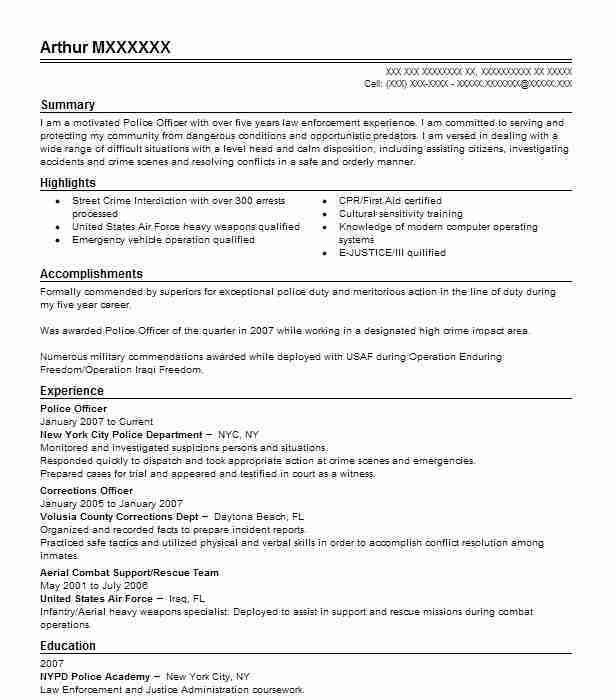 Download Police Resume | haadyaooverbayresort.com