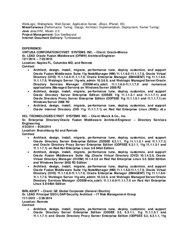 Jboss Administration Sample Resume | haadyaooverbayresort.com