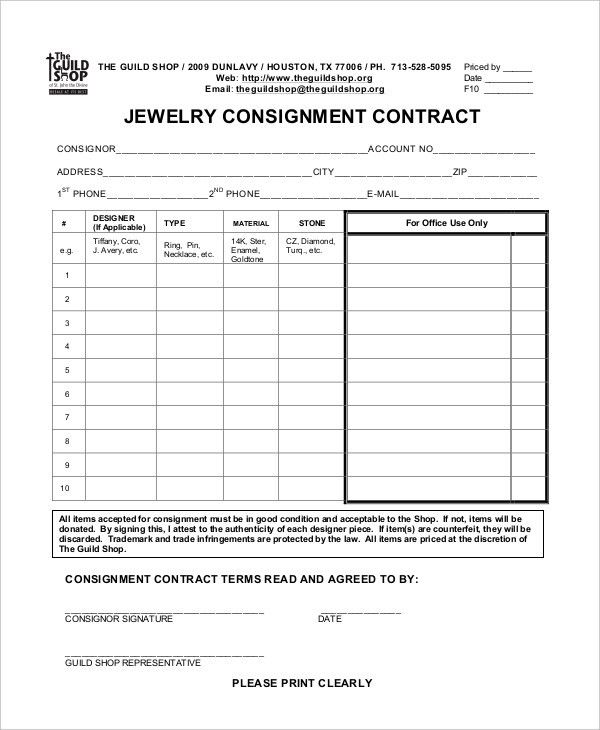 Consignment Agreement - 10+ Free PDF, Word Documents Download ...