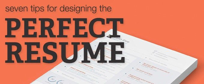 7 Tips for Designing the Perfect Resume ~ Creative Market Blog