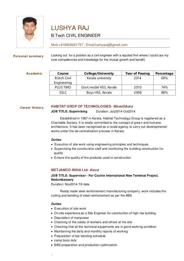 civil engineer resume-Lushya Raj