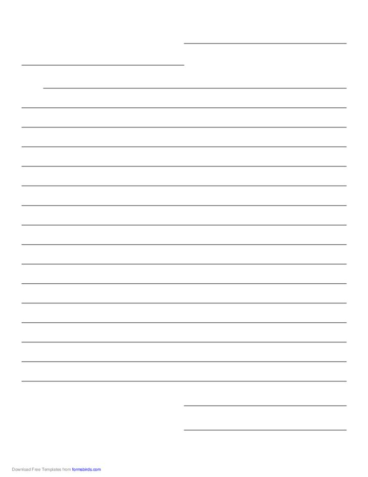 Friendly Letter Paper Template Free Download