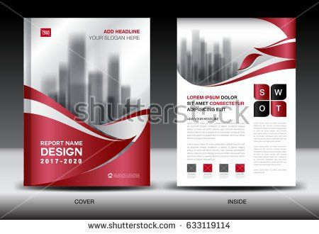 Annual Report Brochure Flyer Template Red Stock Vector 604855853 ...