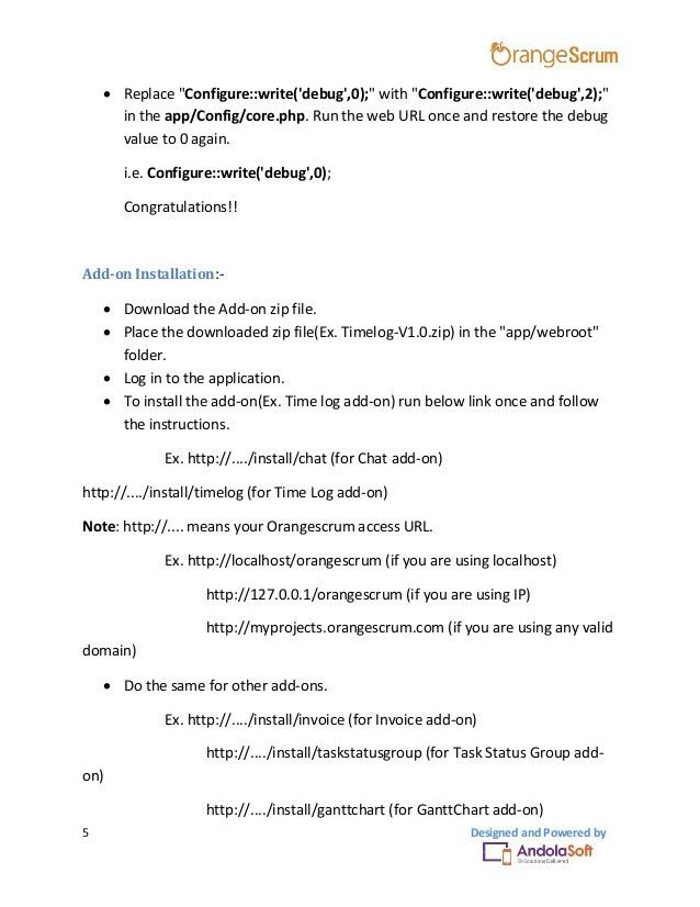 Orangescrum Project Template Add on User Manual