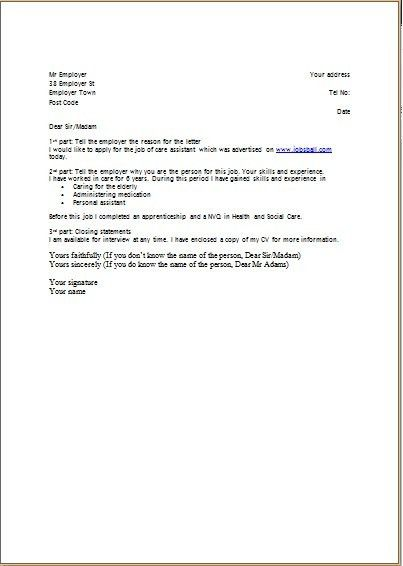 Download What To Write In A Cover Letter For A Cv ...