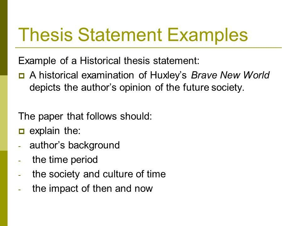 Creating a Thesis Statement Tips and Examples for Writing Thesis ...