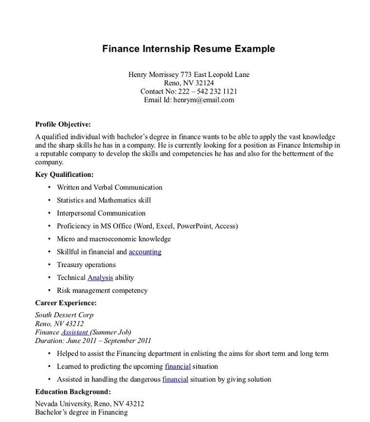 Resume For Internship. Internship Resume Resume For Internship ...
