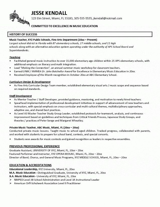 Middle School Teacher Resume - Best Resume Collection