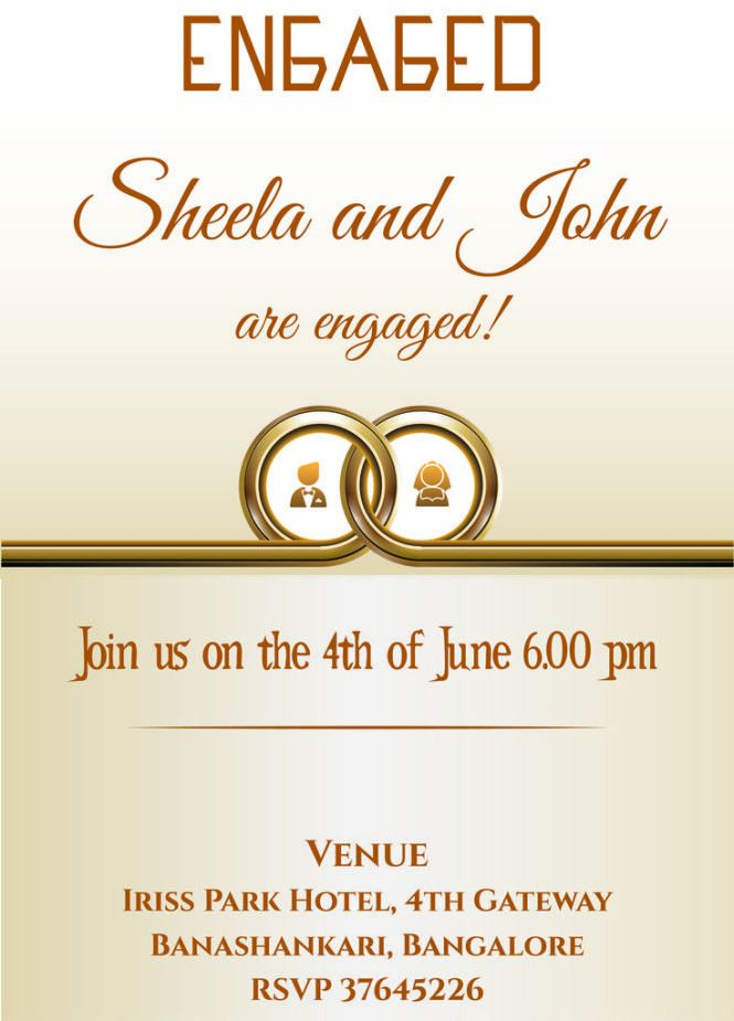 Free Engagement Invitation Cards | PaperInvite