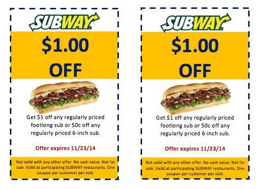 Sample Subway Coupon – Coupon Templates