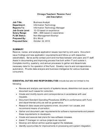 System Analyst Job Descriptions. Additional Comments - •; 7 Non ...