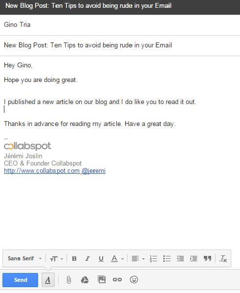 10 Tips to avoid being Rude in your Email