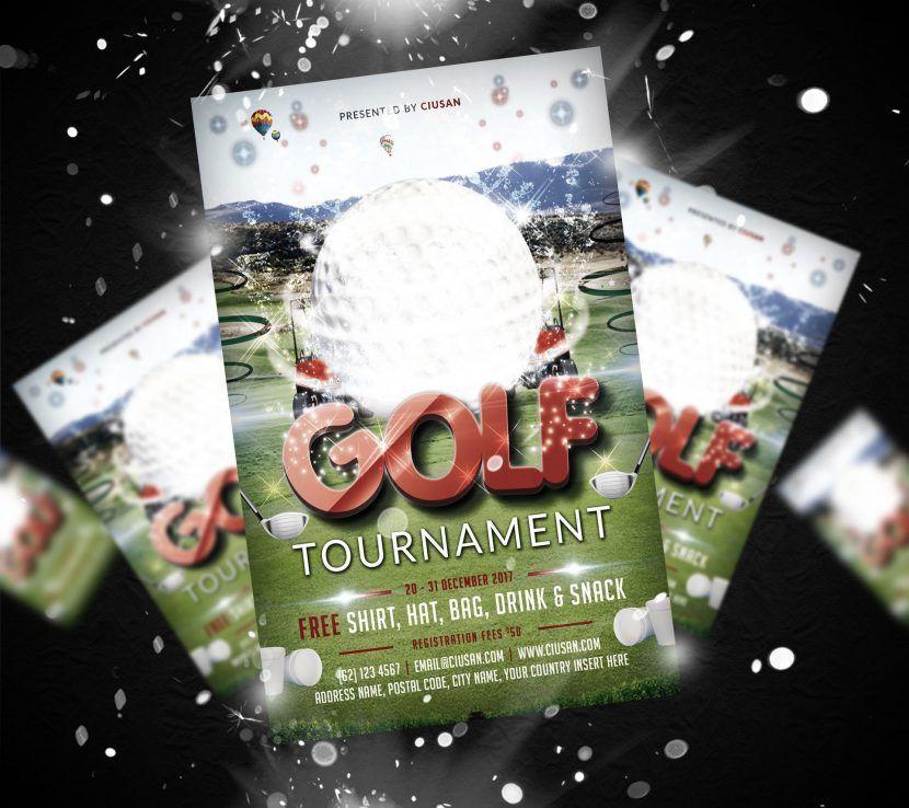 Free - Golf Tournament Flyer Template - Ciusan