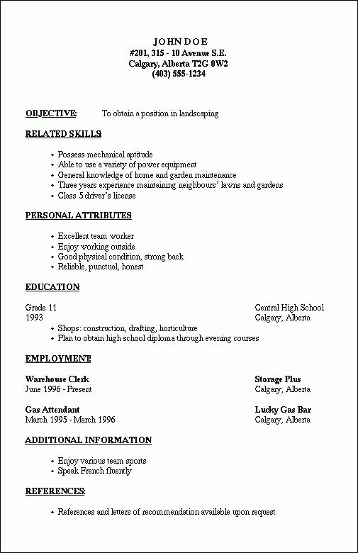 Outline Resume Template Free Resume Template For Microsoft Word
