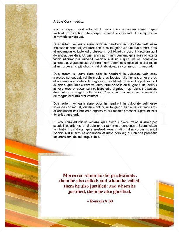 Pentecost Church Newsletter Template Template | Newsletter Templates