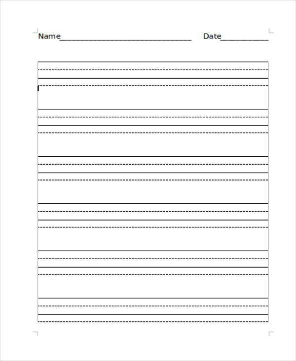 Lined Paper Template Kids [Template.billybullock.us ]