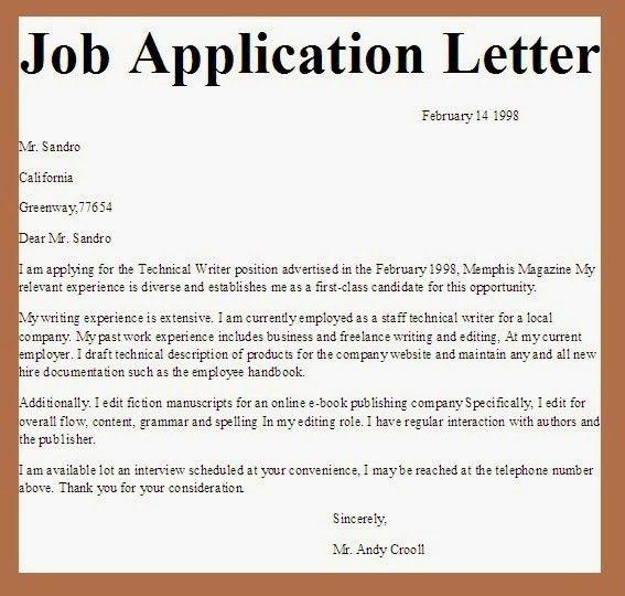 applications letter   application letter   Pinterest