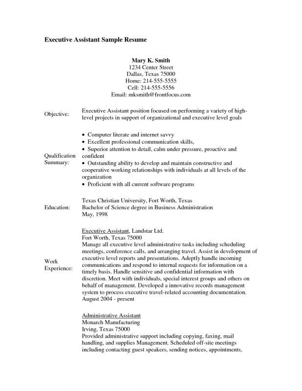 Executive Assistant Resume Templates. Executive Assistant Resume ...