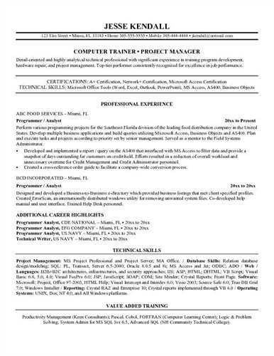 Programmer analyst resume sample , , ,