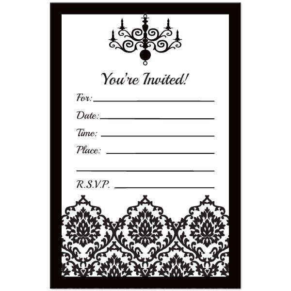 Black And White Birthday Invitations - marialonghi.Com