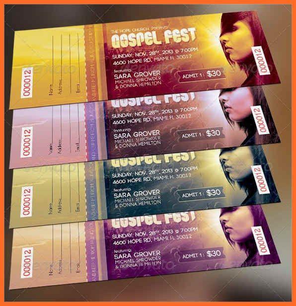 concert ticket template | soap format