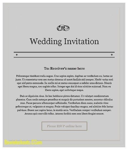 Wedding Invitation: Elegant Email Matter for Wedding Invitation,