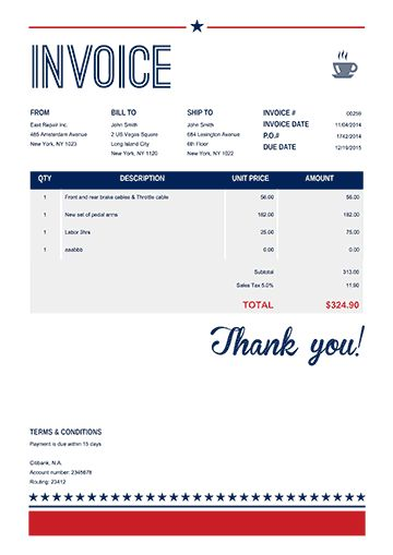 100 Free Invoice PDF Templates | Print & Email