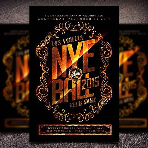New Year Brochure Template. Download Nye 2017 Free Psd Flyer ...