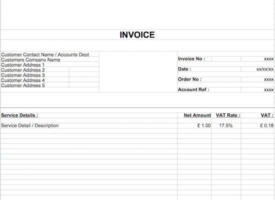 40+ Invoice Templates: Blank, Commercial (PDF, Word, Excel)