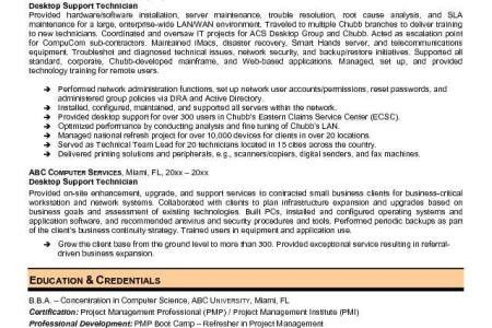 Network Support Technician Resume. ndi technician resume. desktop ...