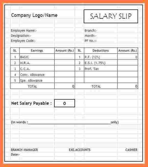 8+ salary slip sample | Sales Slip Template