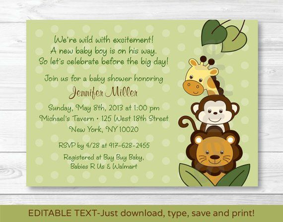 Free Baby Shower Invitations Templates Pdf | THERUNTIME.COM