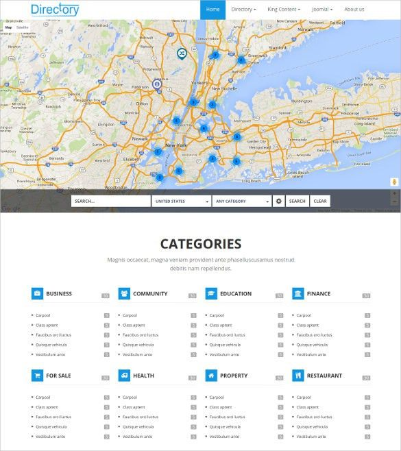 15+ Directory & Listing Joomla Themes & Templates | Free & Premium ...