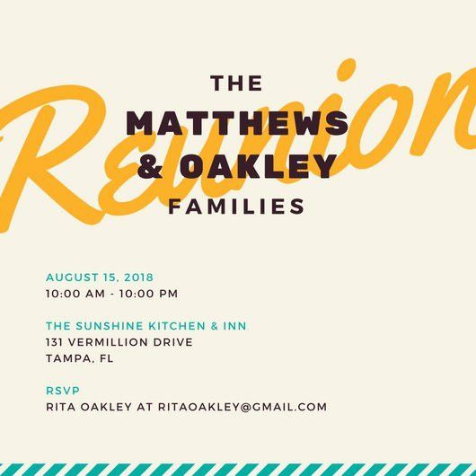 Big Family Reunion Invitation - Templates by Canva