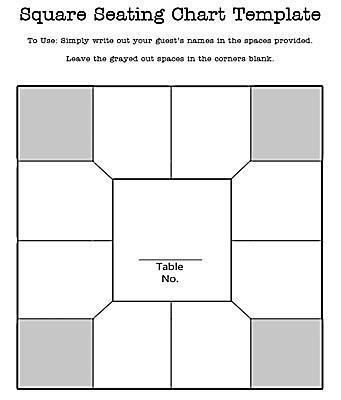 Seating Chart Templates. Wedding Seating Plan Template To Help ...
