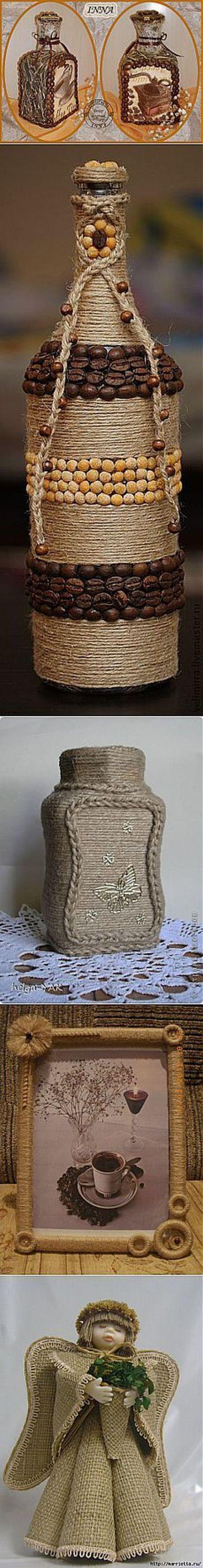 Поделки из джута и кофе своими руками