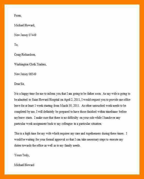 8+ medical leave letter sample | science-resume