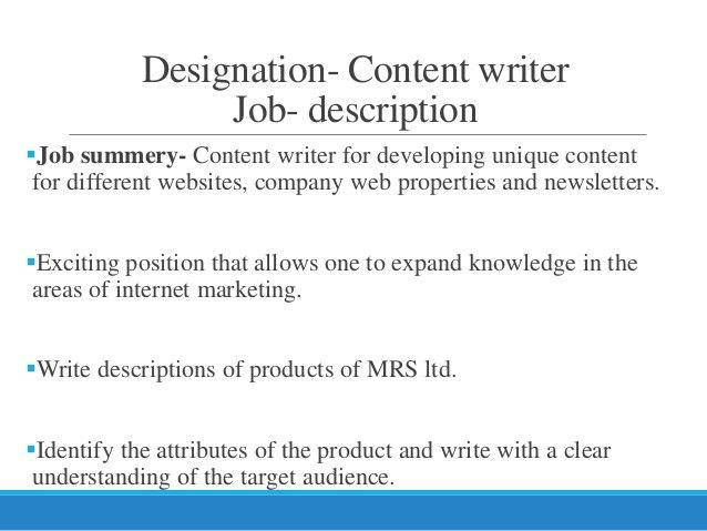 compensation structure of content writer