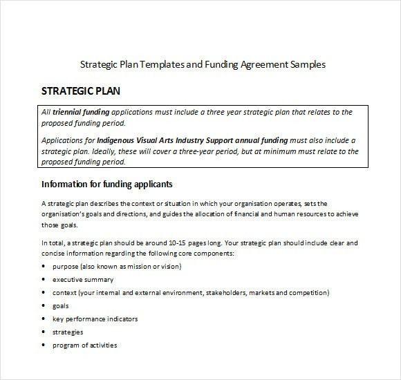 Sample Strategic Plan Template - 8+ Free Documents in PDF, Word